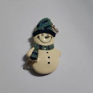 Liz Claiborne holiday snowman brooch